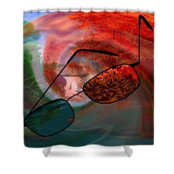 Looking Forward Looking Back Shower Curtain