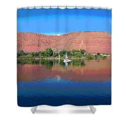 Reflections Of Ivins, Ut Shower Curtain