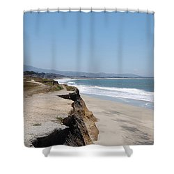 Looking Toward Half Moon Bay Shower Curtain by Carolyn Donnell