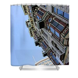 Looking Up From The Gaslamp Shower Curtain by John  Greaves