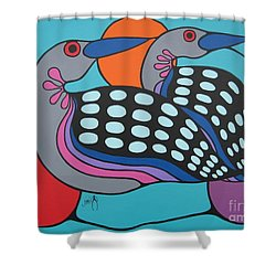 Loons Shower Curtain