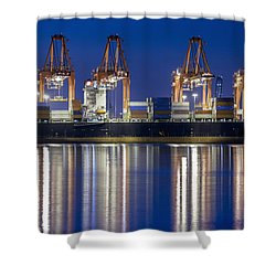 Los Angelos Prot And Reflections Shower Curtain by Mike Raabe