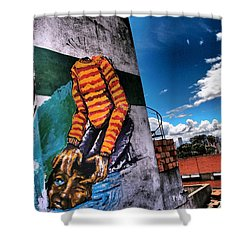 Lose Face Shower Curtain by Skip Hunt