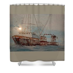 Lost At Sea Shower Curtain by Jim Cook