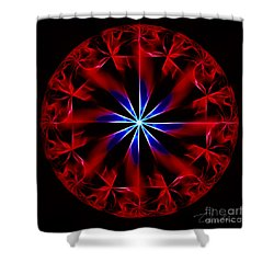 Lost Flames Shower Curtain by Danuta Bennett