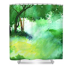 Lost In Thought Shower Curtain by Anil Nene