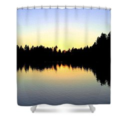 Lost Lagoon Sunset Shower Curtain by Will Borden