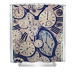 Lost Time Shower Curtain by Garry Gay