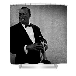Louis Armstrong Bw Shower Curtain by David Dehner