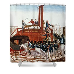 Louis Xvi: Execution Shower Curtain by Granger
