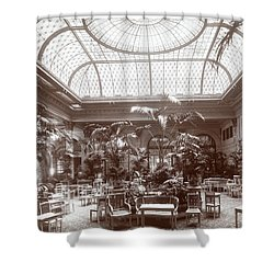Lounge At The Plaza Hotel Shower Curtain by Henry Janeway Hardenbergh