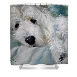 Lounging In The Shadows Shower Curtain by Mary Sparrow