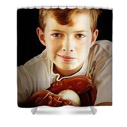 Love Baseball Shower Curtain by Lj Lambert