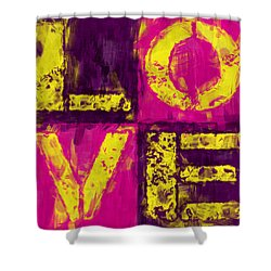 Love Shower Curtain by David G Paul