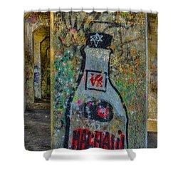 Love Graffiti Shower Curtain by Susan Candelario