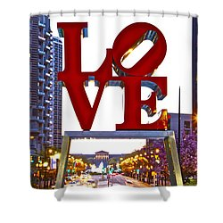 Shower Curtain featuring the photograph Love In Philadelphia by Alice Gipson