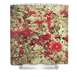 Love Is All Around Shower Curtain by Laurie Search