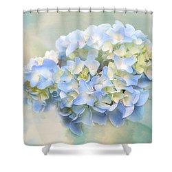 Love Letter Vii Hydrangea Shower Curtain by Jai Johnson