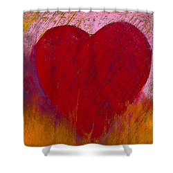 Love On Fire Shower Curtain by David Patterson