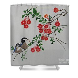 Shower Curtain featuring the painting Love by Sonali Gangane