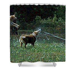 Love To Play Shower Curtain by One Rude Dawg Orcutt
