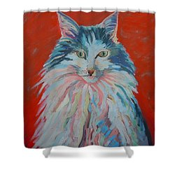 Shower Curtain featuring the painting Lovely Star by Francine Frank