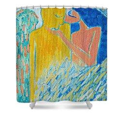 Loving An Angel Shower Curtain by Ana Maria Edulescu