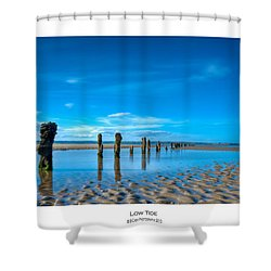 Low Tide Shower Curtain by Beverly Cash