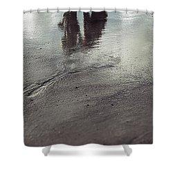 Low Tide Shower Curtain by Joana Kruse