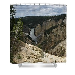 Lower Falls Of Yellowstone Shower Curtain by Living Color Photography Lorraine Lynch