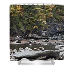 Loyalsock Creek In The Fall Shower Curtain