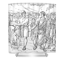 Lucius Cincinnatus Shower Curtain by Granger