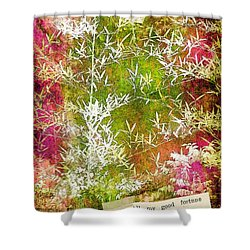Lucky Bamboo Shower Curtain by Judi Bagwell