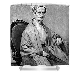 Lucretia Coffin Mott, American Activist Shower Curtain by Photo Researchers