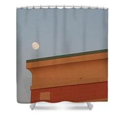 Lunar Perspective Shower Curtain by Sonali Gangane