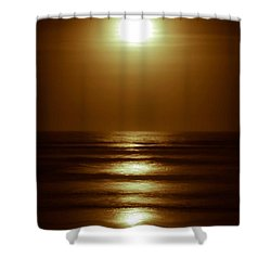 Lunar Tides I Shower Curtain by DigiArt Diaries by Vicky B Fuller