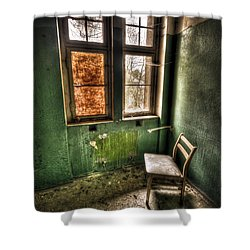 Lunatic Seat Shower Curtain by Nathan Wright