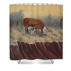 Lunch Time Shower Curtain by Jan Holman