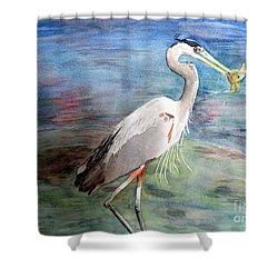 Lunchtime Watercolour Shower Curtain