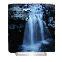 Lundbreck Falls Shower Curtain by Alyce Taylor