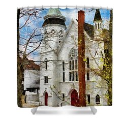 Lunenburg United Shower Curtain by Jeff Kolker