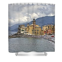 Lungomare In Camogli Shower Curtain by Joana Kruse