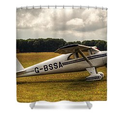 Luscombe 8e Deluxe 2 Seater Plane Shower Curtain