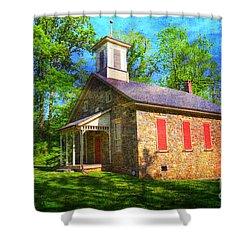 Lutz-franklin Schoolhouse Shower Curtain by Paul Ward