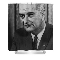 Lyndon B Johnson Shower Curtain by International  Images