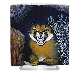 Lynx Shower Curtain by Caroline Street