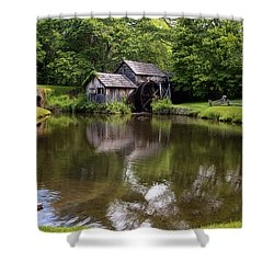 Mabry Mill And Pond Shower Curtain