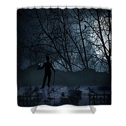 Macabre Shower Curtain by Lourry Legarde