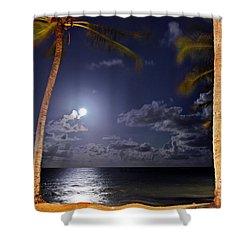 Maceio - Brazil - Ponta Verde Beach Under The Moonlit Shower Curtain
