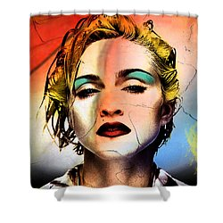 Madonna  Shower Curtain by Mark Ashkenazi